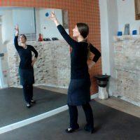 Durante las clases de flamenco online